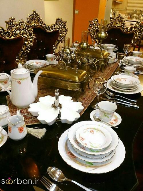 تزیین و چیدمان میز ناهار خوری جهیزیه عروس 16