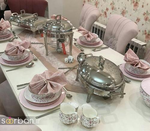 تزیین و چیدمان میز ناهار خوری جهیزیه عروس 17