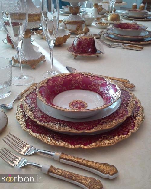 تزیین و چیدمان میز ناهار خوری جهیزیه عروس 18