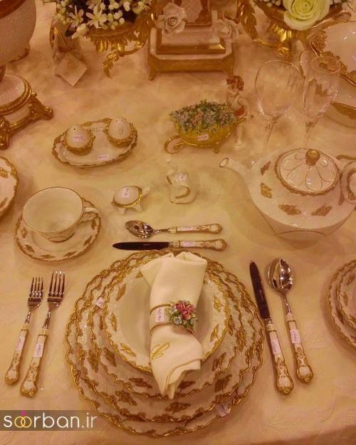 تزیین و چیدمان میز ناهار خوری جهیزیه عروس