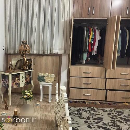 چیدمان و تزیین اتاق خواب جهیزیه عروس-12