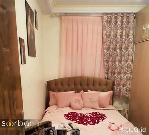 چیدمان و تزیین اتاق خواب جهیزیه عروس-18