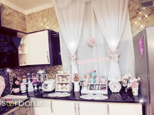 چیدمان و تزیین آشپزخانه جهیزیه عروس