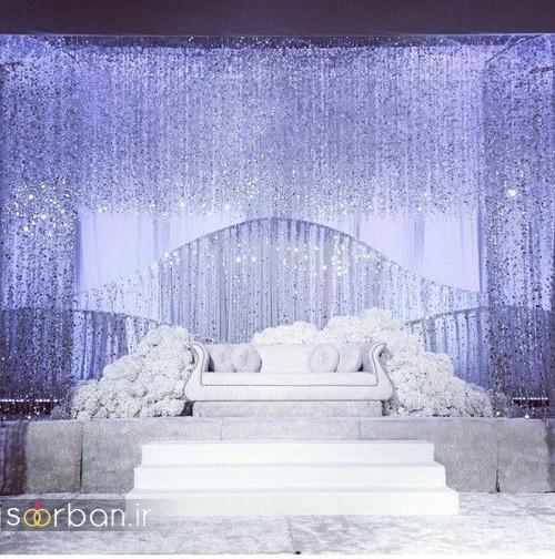 تزیین جایگاه عروس و داماد بله برون -04