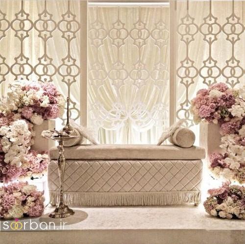 تزیین جایگاه عروس و داماد بله برون -6