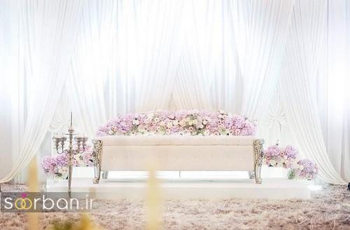 تزیین جایگاه عروس و داماد بله برون -8