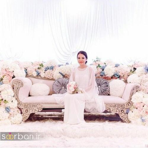 تزیین جایگاه عروس و داماد بله برون -19