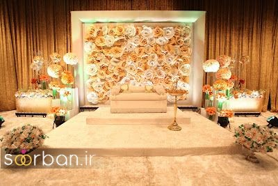 تزیین جایگاه عروس و داماد بله برون -23