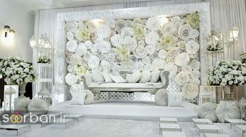 تزیین جایگاه عروس و داماد بله برون -30