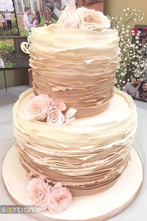 کیک عروسی رمانتیک و زیبا 2017-05