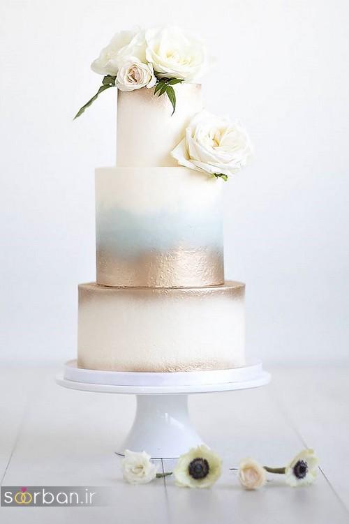 کیک عروسی رمانتیک و زیبا 2017-7