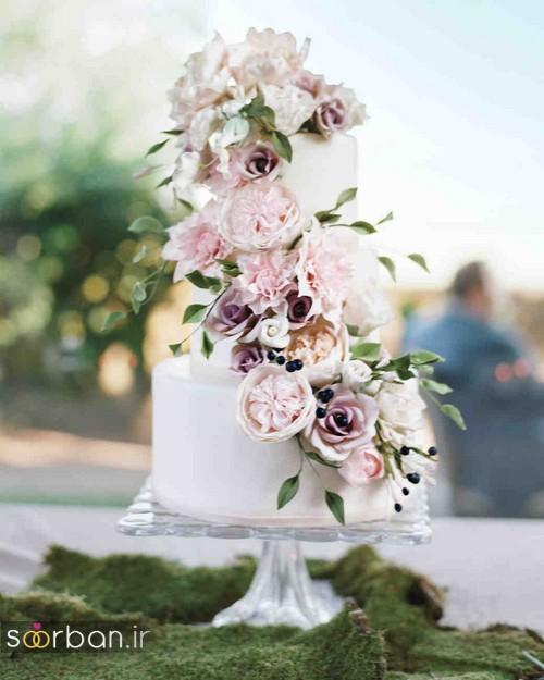 کیک عروسی رمانتیک و زیبا 2017-09