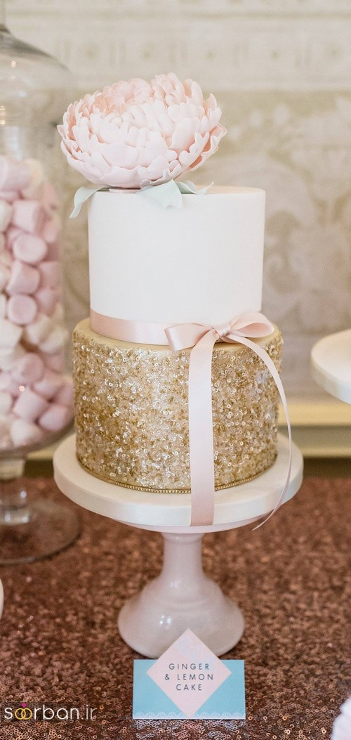 کیک عروسی رمانتیک و زیبا 2017-10