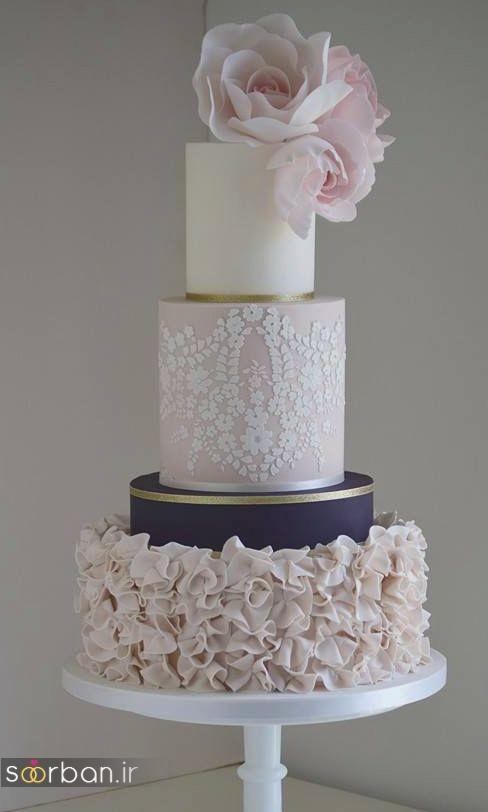 کیک عروسی رمانتیک و زیبا 2017-11