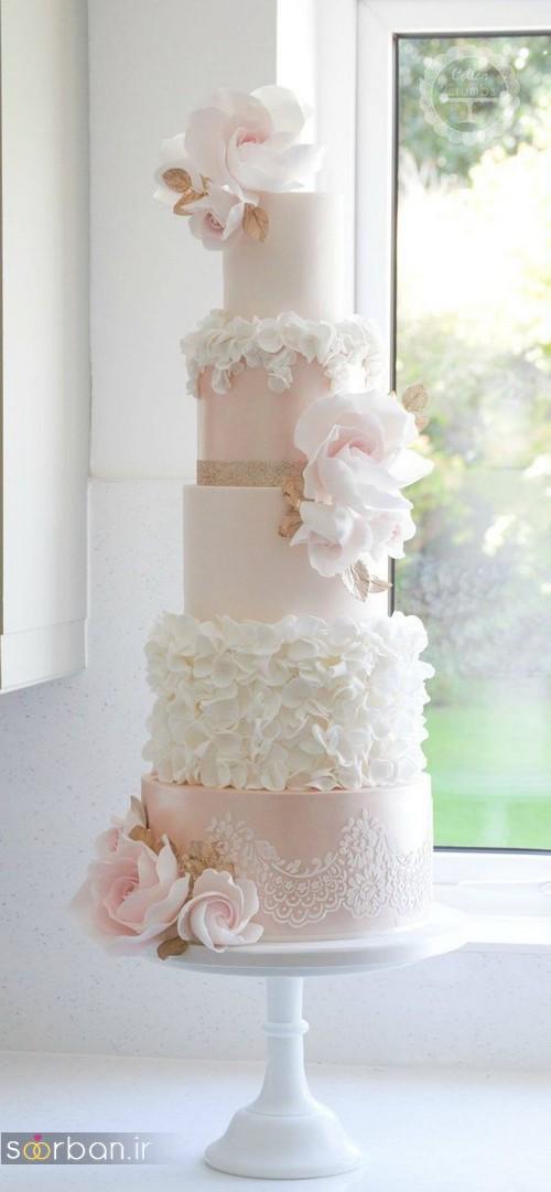 کیک عروسی رمانتیک و زیبا 2017-15