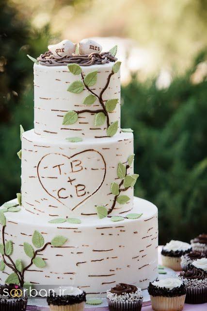 کیک عروسی رمانتیک و زیبا 2017