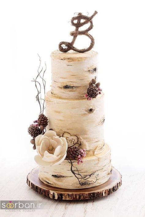 کیک عروسی رمانتیک و زیبا 2017-18
