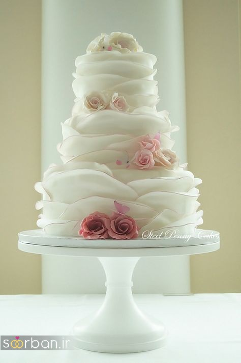 کیک عروسی رمانتیک و زیبا 2017-19