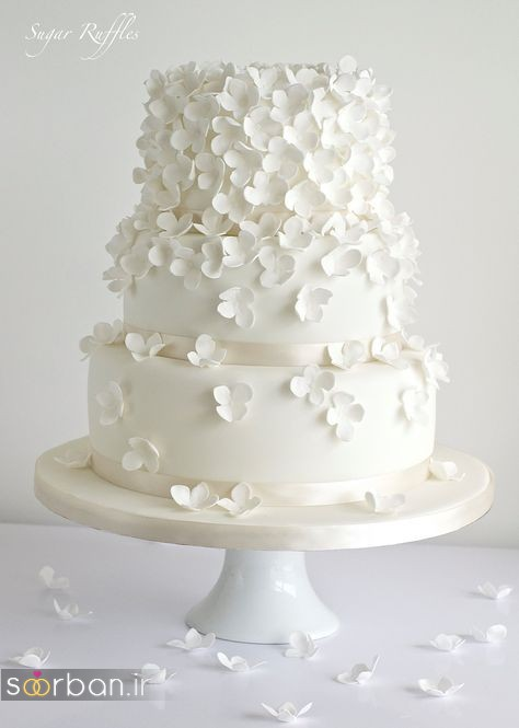 کیک عروسی رمانتیک و زیبا 2017-21