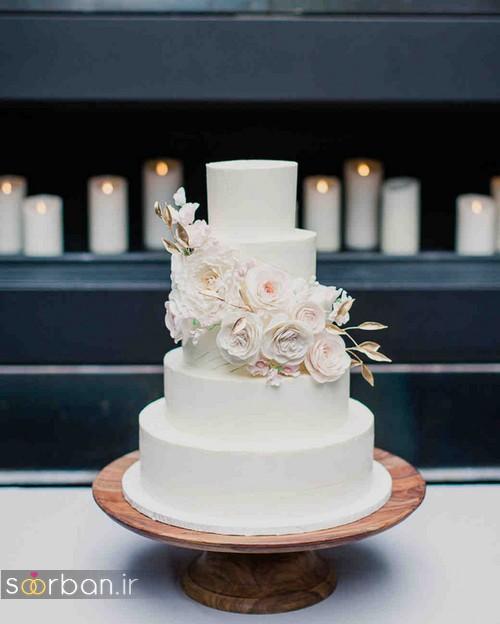 کیک عروسی رمانتیک و زیبا 2017-25