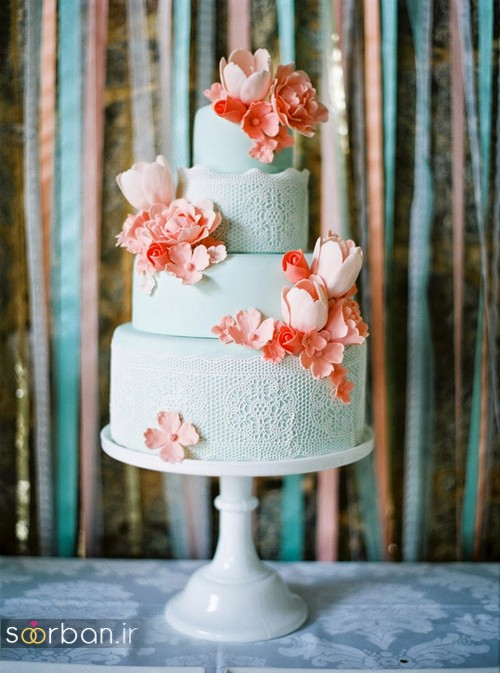 کیک عروسی رمانتیک و زیبا 2017-28