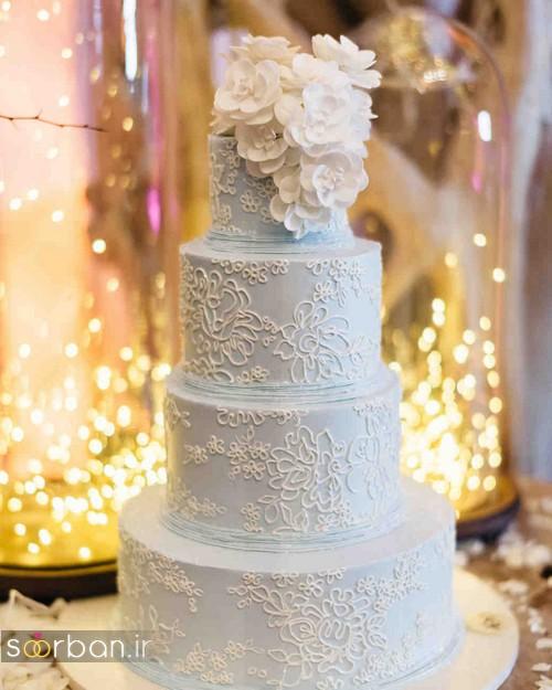کیک عروسی رمانتیک و زیبا 2017-30