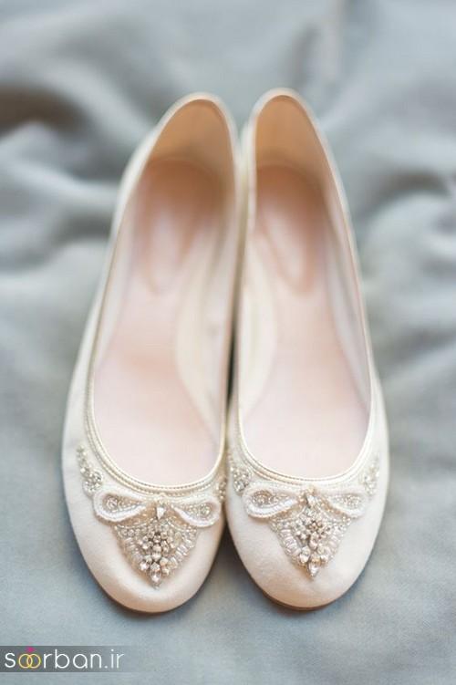 کفش عروس بدون پاشنه فوق العاده زیبا-2