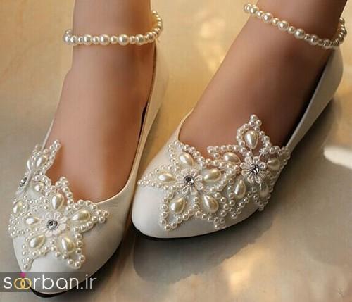 کفش عروس بدون پاشنه فوق العاده زیبا-4