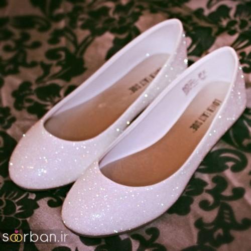 کفش عروس بدون پاشنه فوق العاده زیبا-6