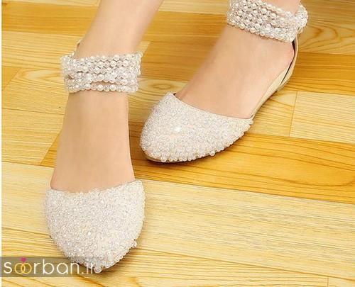 کفش عروس بدون پاشنه فوق العاده زیبا-8