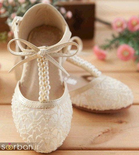 کفش عروس بدون پاشنه فوق العاده زیبا-9