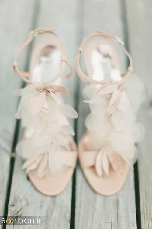 کفش عروس بدون پاشنه فوق العاده زیبا-11