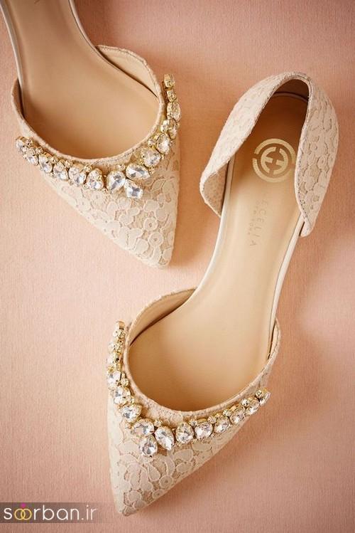 کفش عروس بدون پاشنه فوق العاده زیبا-12