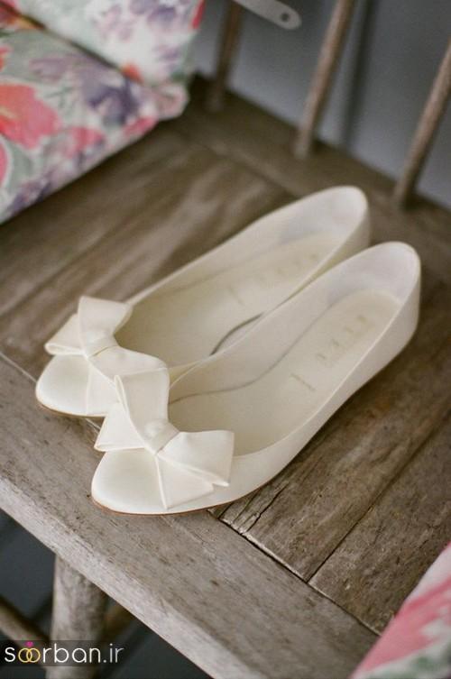کفش عروس بدون پاشنه فوق العاده زیبا-14