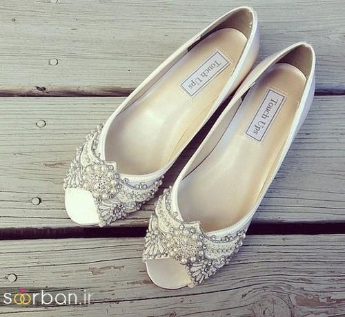 کفش عروس بدون پاشنه فوق العاده زیبا-16