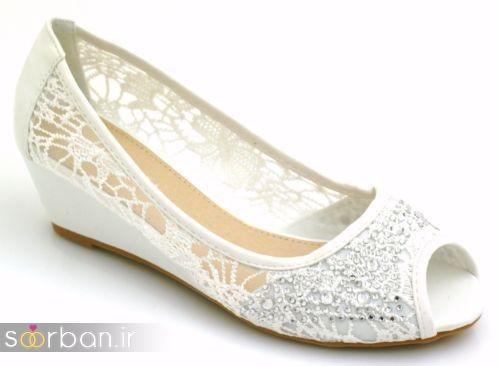 کفش عروس بدون پاشنه فوق العاده زیبا-17