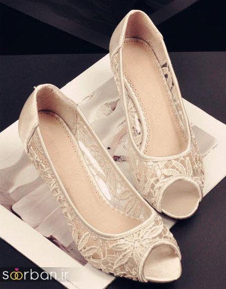 کفش عروس بدون پاشنه فوق العاده زیبا-18