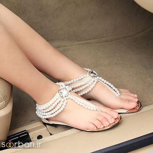 کفش عروس بدون پاشنه فوق العاده زیبا-20