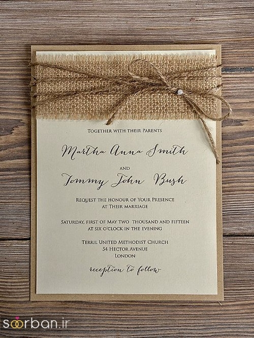 کارت عروسی خارجی زیبا و جدید