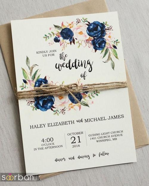 کارت عروسی خارجی زیبا و جدید-10