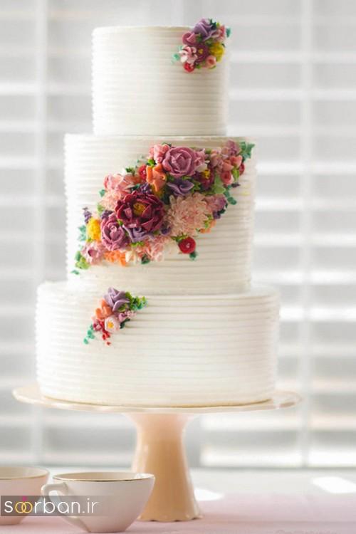کیک عروسی با روکش خامه 96 2017