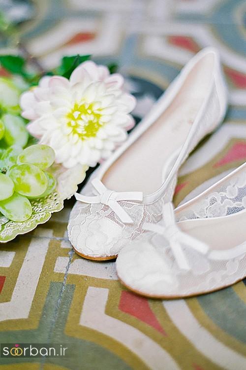 کفش عروس راحت و تخت -07