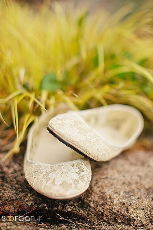 کفش عروس راحت و تخت -8