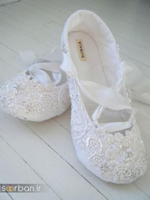 کفش عروس راحت و تخت -9