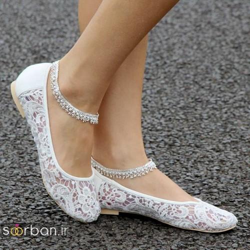 کفش عروس راحت و تخت -12