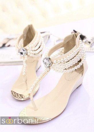 کفش عروس راحت و تخت -15