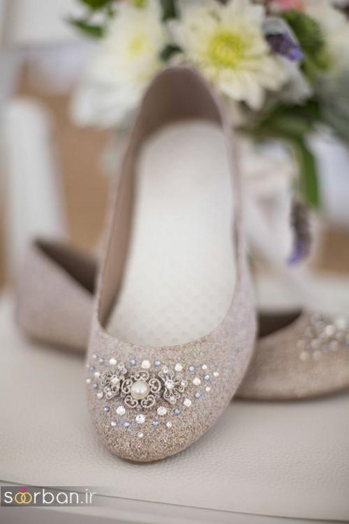 کفش عروس راحت و تخت -16