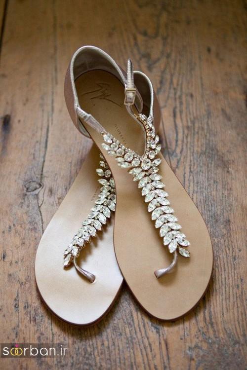 کفش عروس راحت و تخت -19