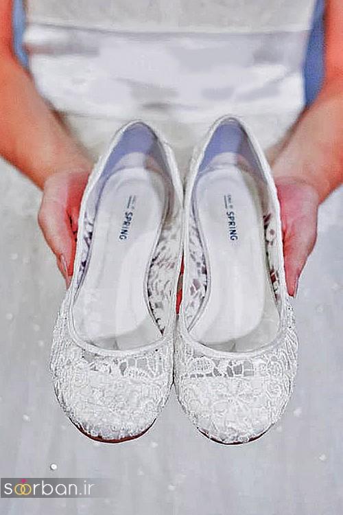 کفش عروس راحت و تخت -24
