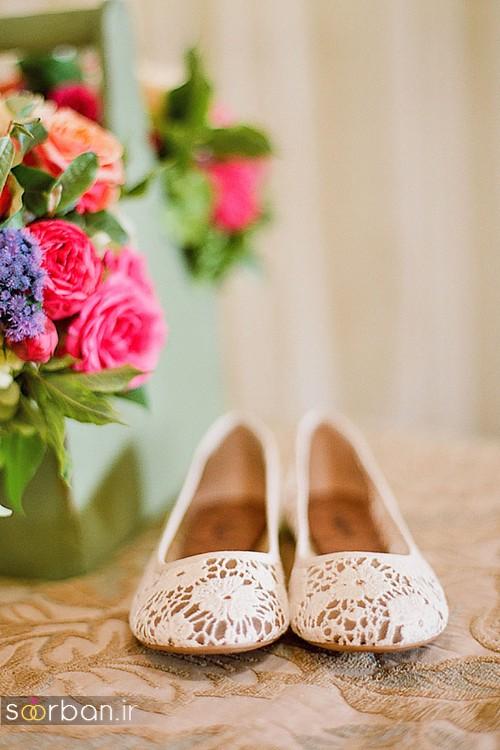 کفش عروس راحت و تخت -27